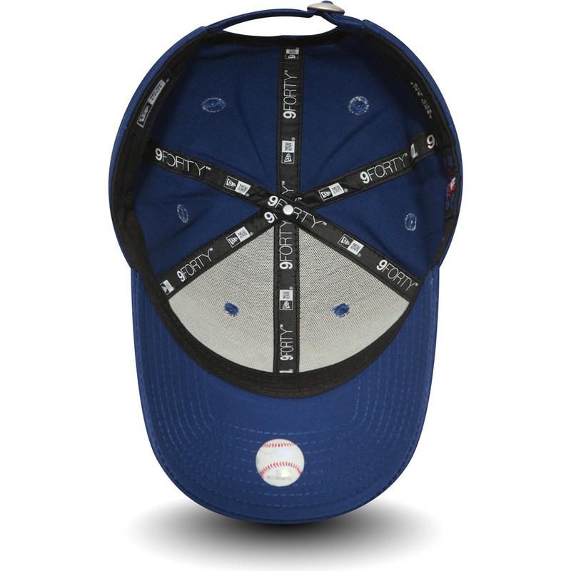 9b9ba25f2c5d Gorra curva azul ajustable 9FORTY Essential de New York Yankees MLB de New  Era