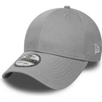 Gorra curva gris ajustable 9FORTY Basic Flag de New Era