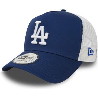 Gorra trucker azul Clean A Frame de Los Angeles Dodgers MLB de New Era b604c47140f