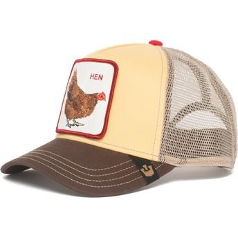 Gorra trucker amarilla gallina Hen de Goorin Bros.