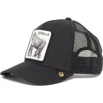Gorra trucker negra gorila King of the Jungle de Goorin Bros.