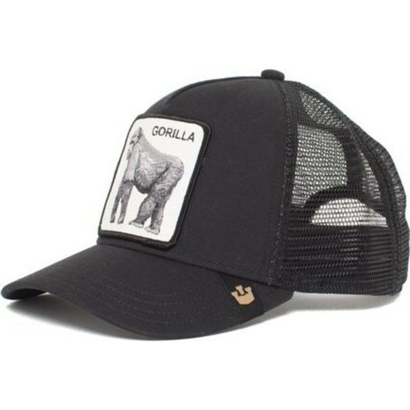 gorra-trucker-negra-gorila-king-of-the-jungle-de-goorin-bros