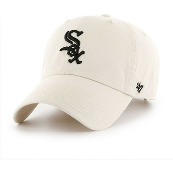 Gorra curva crema de Chicago White Sox MLB Clean Up de 47 Brand