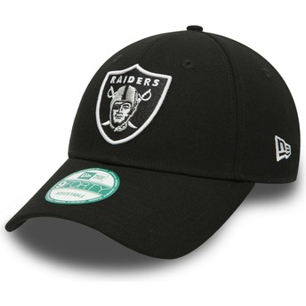 Gorra curva negra ajustable 9FORTY The League de Oakland Raiders NFL de New Era