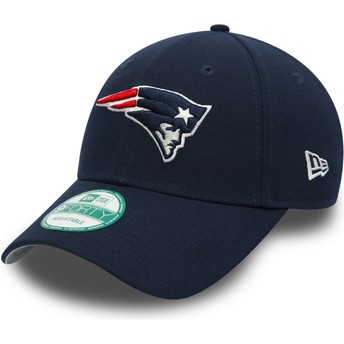 Gorra curva azul marino ajustable 9FORTY The League de New England Patriots NFL de New Era