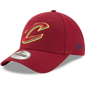 Gorra curva roja ajustable 9FORTY The League de Cleveland Cavaliers NBA de New Era