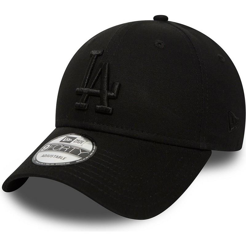 0e05f3d09605a Gorra curva negra ajustable con logo negro 9FORTY Essential de Los ...