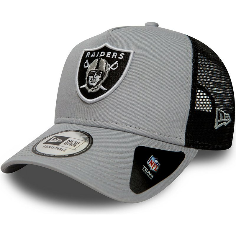 8ff617814fe31 Gorra trucker gris Essential A Frame de Oakland Raiders NFL de New ...