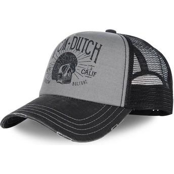 Gorra curva gris y negra ajustable CREW1 de Von Dutch