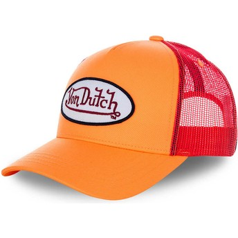 Gorra trucker naranja y roja FRESH03 de Von Dutch