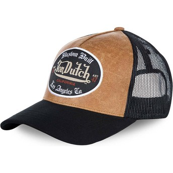 Gorra trucker marrón y negra GRL de Von Dutch