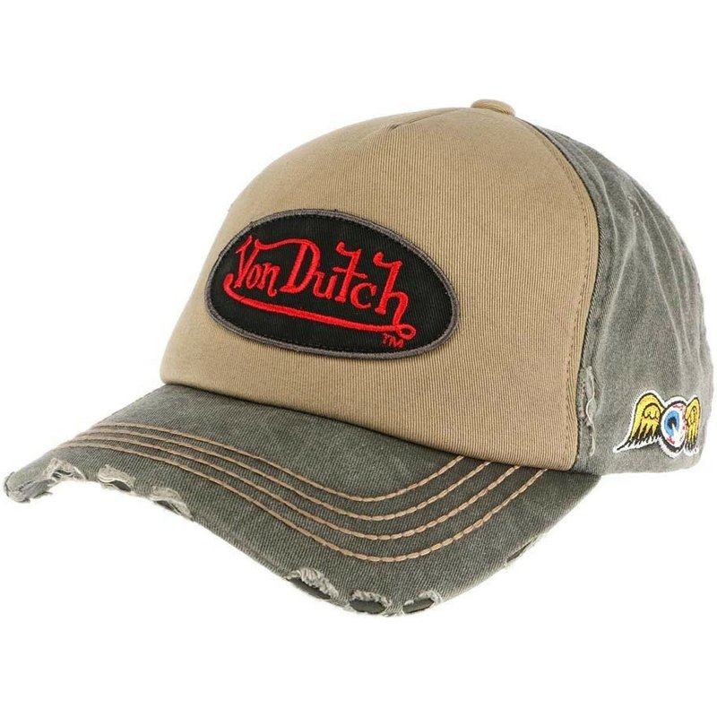 gorra-curva-marron-y-verde-ajustable-lars02-de-von-dutch