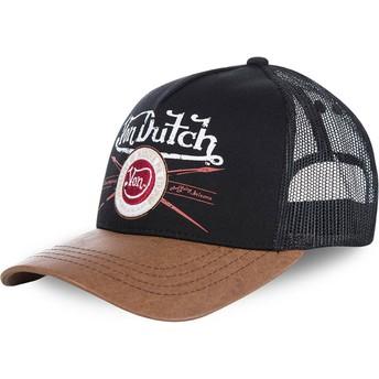 Gorra trucker negra y marrón PIN de Von Dutch