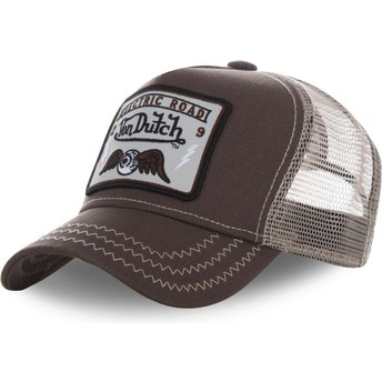 Gorra trucker marrón SQUARE2B de Von Dutch