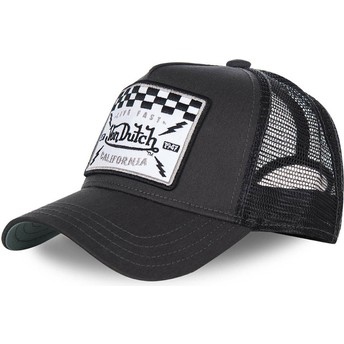 Gorra trucker negra SQUARE8B de Von Dutch