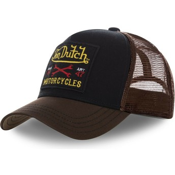 Gorra trucker negra y marrón SQUARE10 de Von Dutch