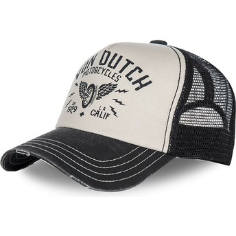 Gorra curva blanca y negra ajustable CREW2 de Von Dutch