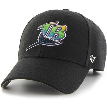 Gorra curva negra de Tampa Bay Rays MLB MVP de 47 Brand