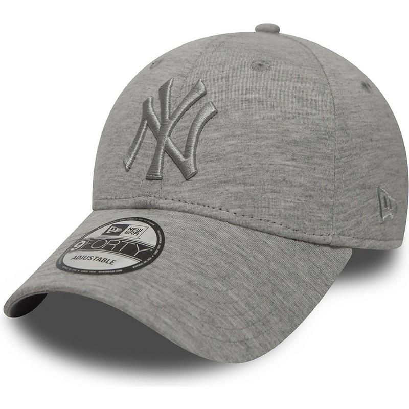 4c392a5e17879 Gorra curva gris ajustable con logo gris de New York Yankees MLB ...