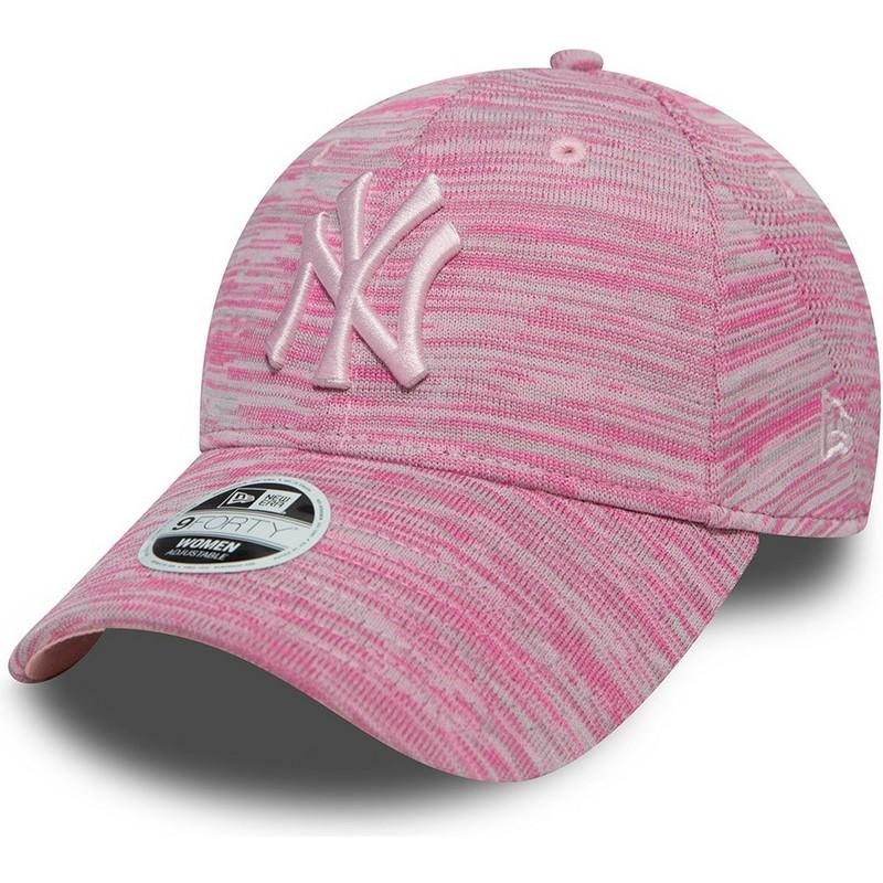 ... York Yankees MLB 9FORTY Engineered Fit de New Era. gorra-curva-rosa- ajustable-con-logo-rosa-de- c4e8101e616