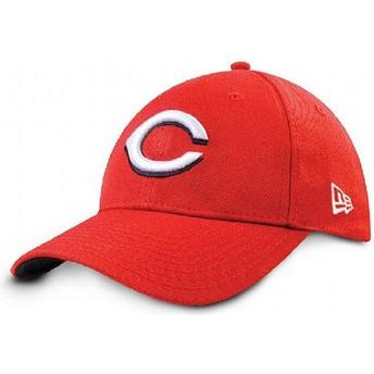 Gorra curva roja ajustable 9FORTY The League de Cincinnati Reds MLB de New Era