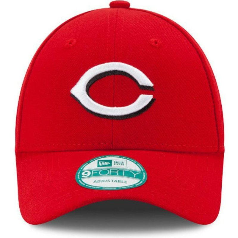 2d766be7cf5f4 Gorra curva roja ajustable 9FORTY The League de Cincinnati Reds MLB ...