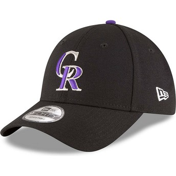 Gorra curva negra ajustable 9FORTY The League de Colorado Rockies MLB de New Era