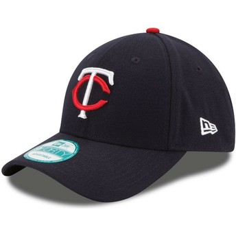 Gorra curva azul marino ajustable 9FORTY The League de Minnesota Twins MLB de New Era