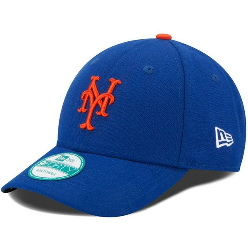 4495d209d0cc4 Gorra curva azul ajustable 9FORTY The League de New York Mets MLB de ...