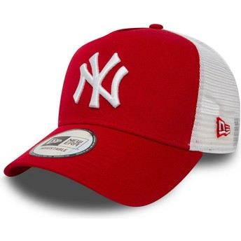 Gorra trucker roja Clean A Frame 2 de New York Yankees MLB de New Era