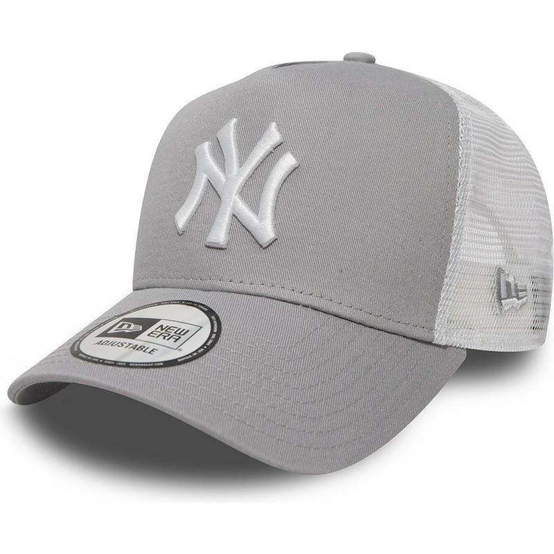 5709429ef7501 Gorra trucker gris Clean A Frame 2 de New York Yankees MLB de New ...
