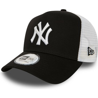 Gorra trucker negra Clean A Frame 2 de New York Yankees MLB de New Era