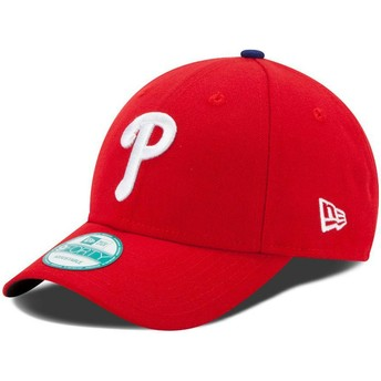 Gorra curva roja ajustable 9FORTY The League de Philadelphia Phillies MLB de New Era