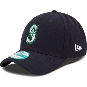 Gorra curva azul marino ajustable 9FORTY The League de Seattle Mariners MLB de New Era