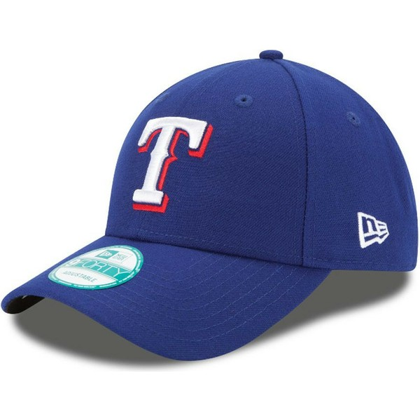 5c45f3efc089f Gorra curva azul ajustable 9FORTY The League de Texas Rangers MLB de ...