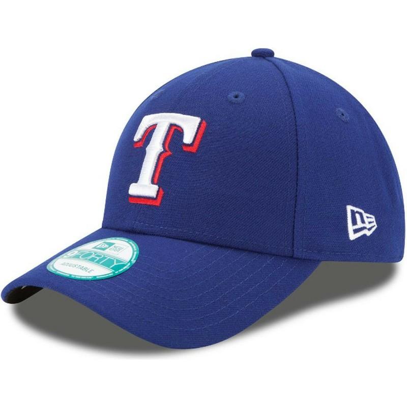 b5f83287a981a Gorra curva azul ajustable 9FORTY The League de Texas Rangers MLB de ...