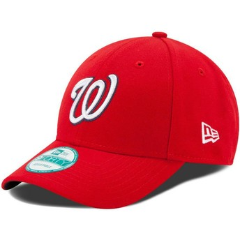 Gorra curva roja ajustable 9FORTY The League de Washington Nationals MLB de New Era