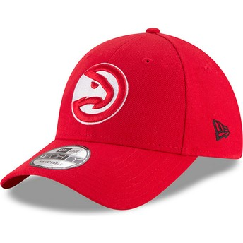 Gorra curva roja ajustable 9FORTY The League de Atlanta Hawks NBA de New Era