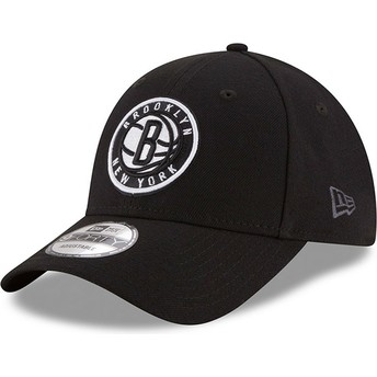 Gorra curva negra ajustable 9FORTY The League de Brooklyn Nets NBA de New Era