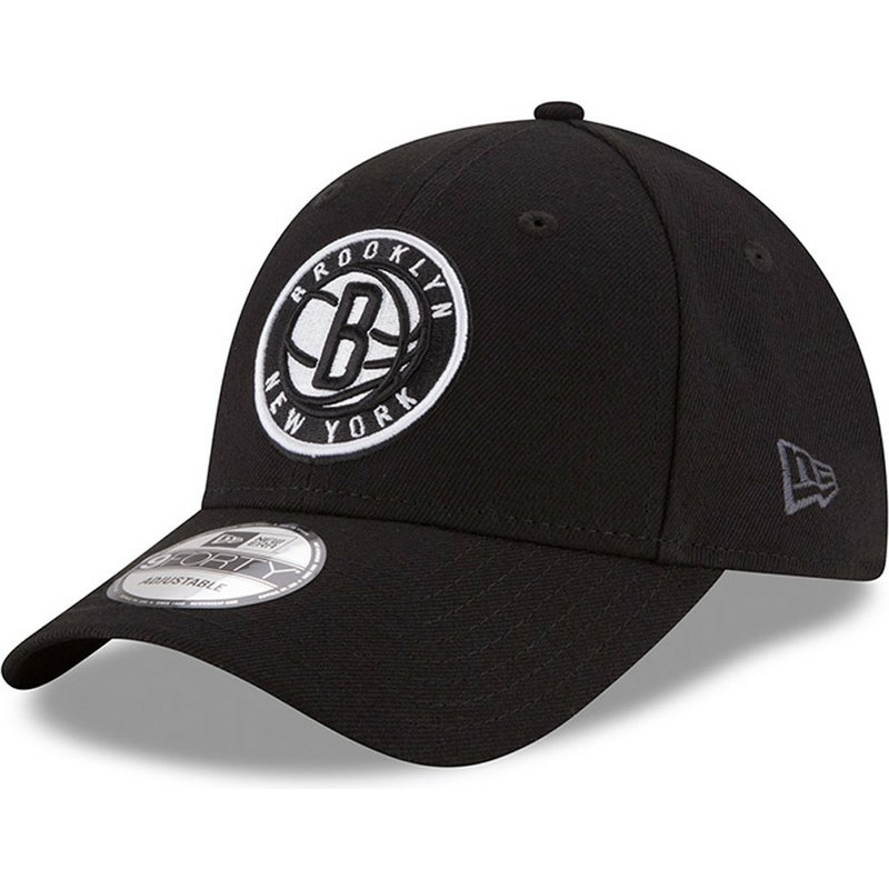 1015f83bd89f2 Gorra curva negra ajustable 9FORTY The League de Brooklyn Nets NBA ...