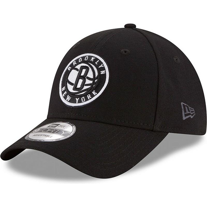 787068c4e1fa Gorra curva negra ajustable 9FORTY The League de Brooklyn Nets NBA de New  Era