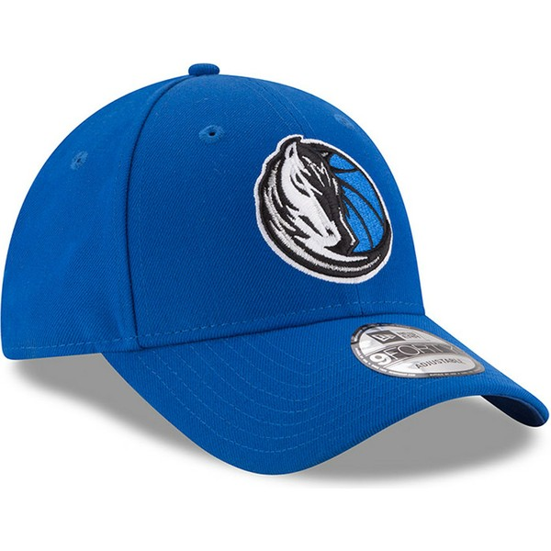 Gorra curva azul ajustable 9FORTY The League de Dallas Mavericks NBA ... 0cc3f49c85d