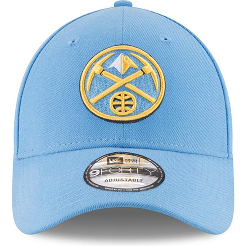 4b9a2207a76e5 Gorra curva azul claro ajustable 9FORTY The League de Denver Nuggets ...