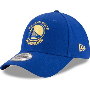 Gorra curva azul ajustable 9FORTY The League de Golden State Warriors NBA de New Era