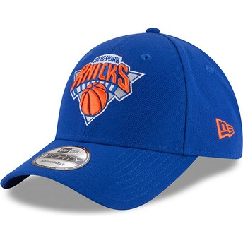 Gorra curva azul ajustable 9FORTY The League de New York Knicks NBA de New Era