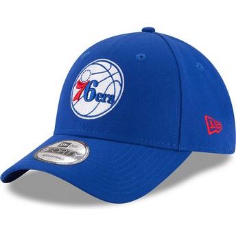 Gorra curva azul ajustable 9FORTY The League de Philadelphia 76ers NBA de New Era