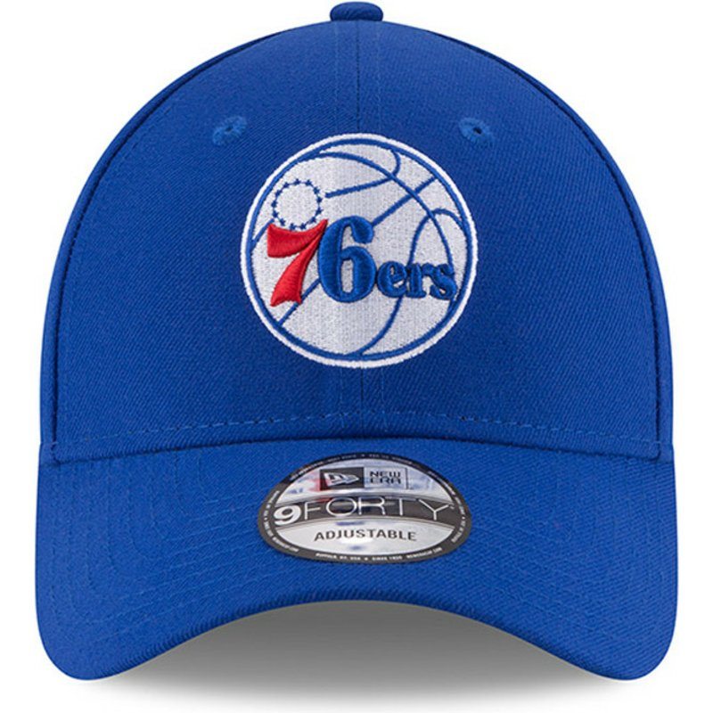 3ef4d40ae11a5 Gorra curva azul ajustable 9FORTY The League de Philadelphia 76ers ...
