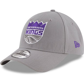 Gorra curva gris ajustable 9FORTY The League de Sacramento Kings NBA de New Era