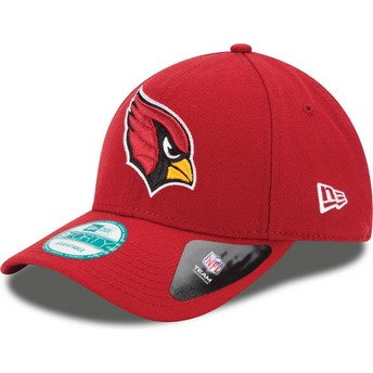 Gorra curva roja ajustable 9FORTY The League de Arizona Cardinals NFL de New Era