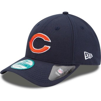 Gorra curva azul marino ajustable 9FORTY The League de Chicago Bears NFL de New Era
